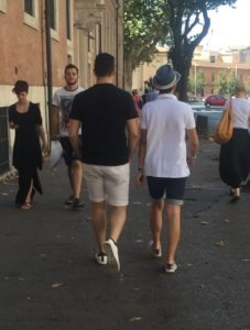 Wearing shorts in Rome