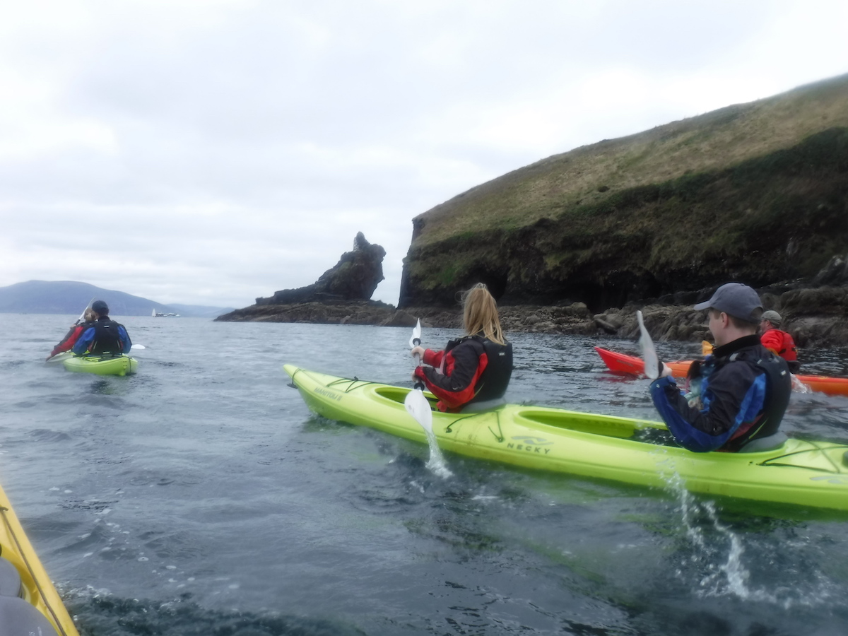 Kayaking out of Dingle Harbor