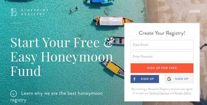8 honeymoon registry websites to make wedding registries easy absolutely free with no hidden charges blueprint registry allows users to add items they would like to request blueprint makes a perfect honeymoon malvernweather Images