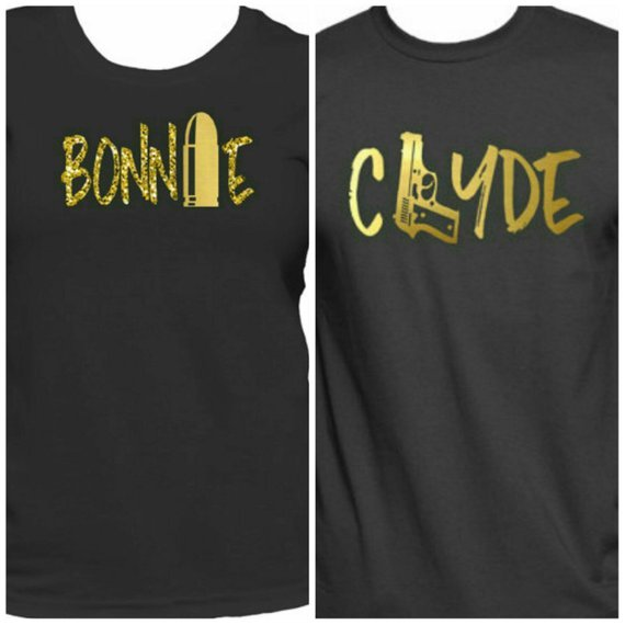 bonnie & clyde his and hers matching t shirts
