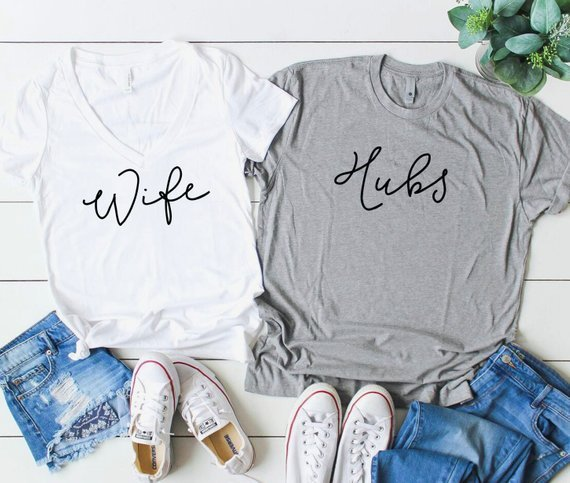 husband and wife shirts for honeymoon