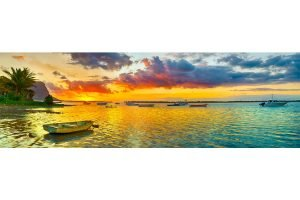 mauritius sunset for honeymooners