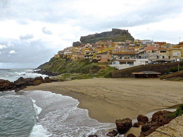 Castelsardo Sardinia Seaside Beach Coastline Pixabay