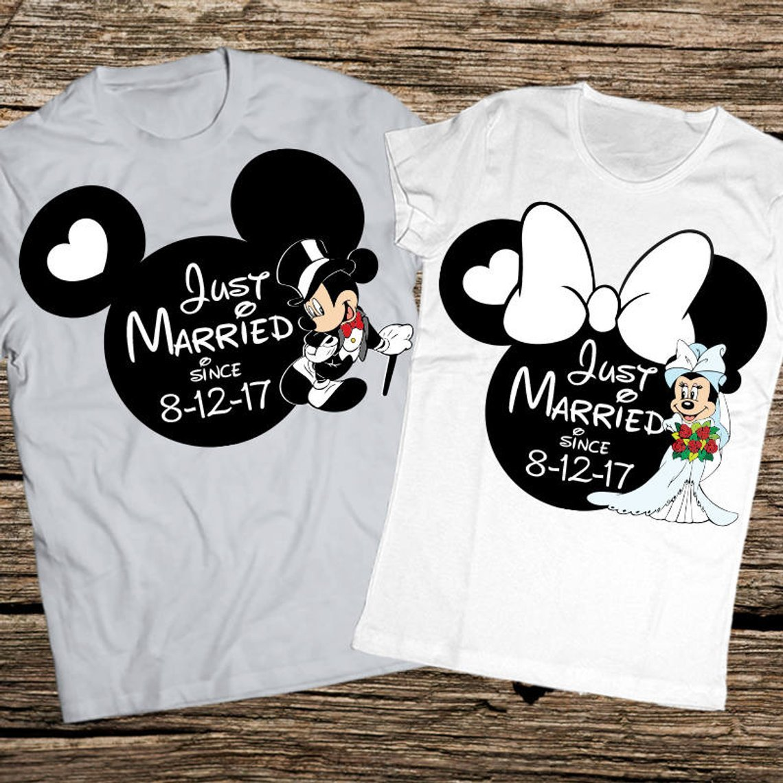 93b1eec0b rocker wife t shirt · Just Married Wedding Date Disney Shirts · Check Price  · rocker ...