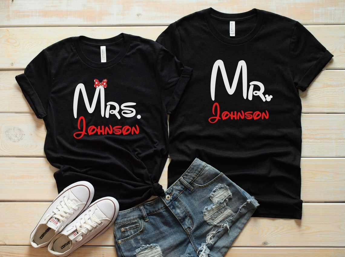 Personalized Disney Couples Tees
