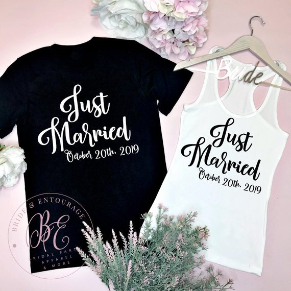 just married t shirts