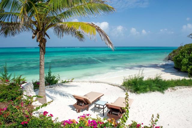 honeymoon resort on the beach in Zanzibar