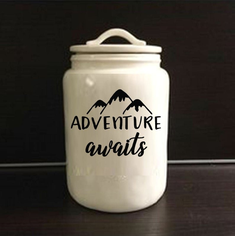 Adventure awaits honeymoon fund jar