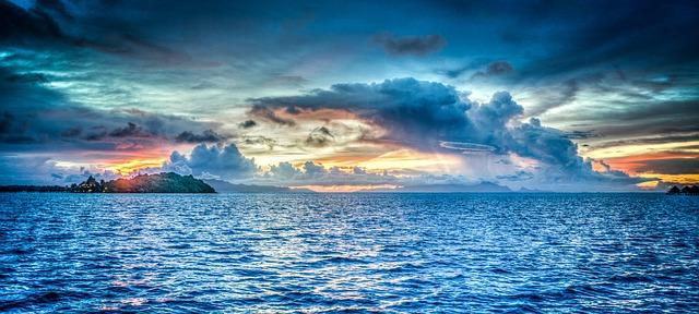 views of the ocean surrounding bora bora that honeymooners love