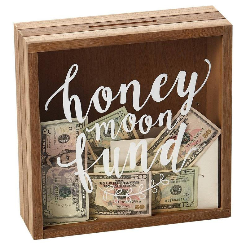 Honeymoon Fund Acrylic and Wooden Box