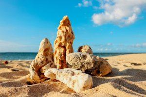 rocks on the beach in maui