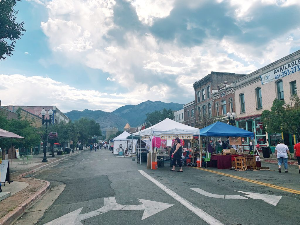 Ogden Farmers Market facing East