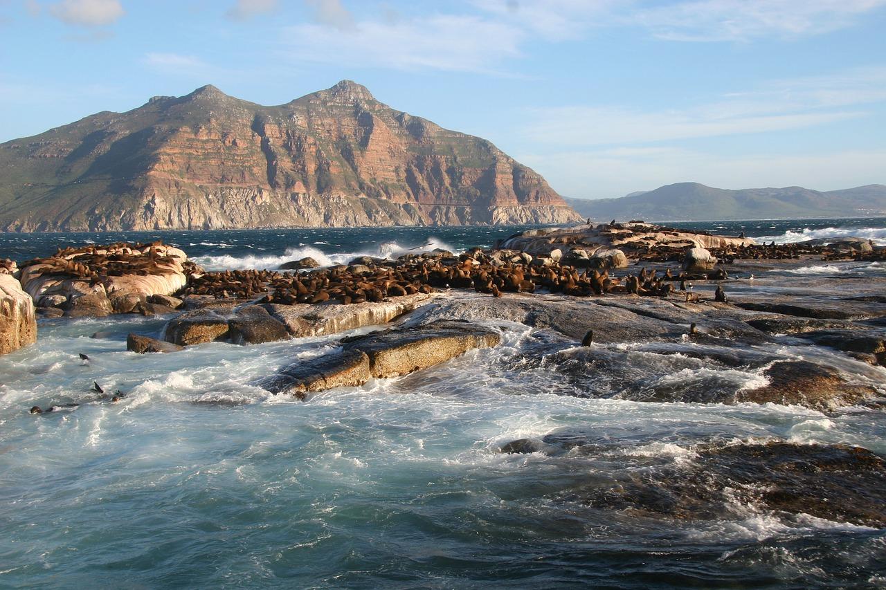 Cabo San Lucas waves against the shore