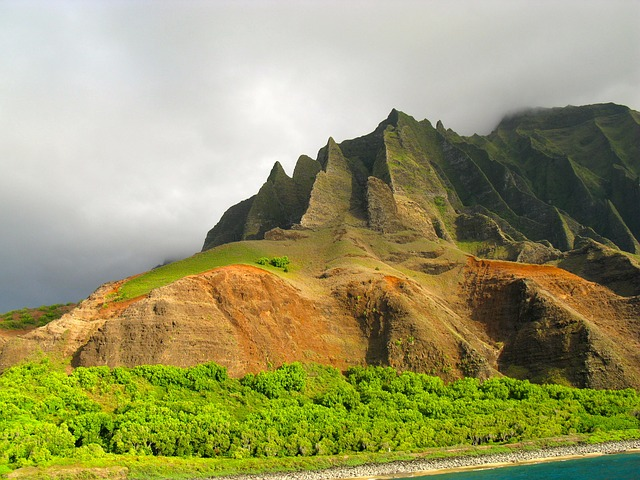 the rocky mountains of Kauai