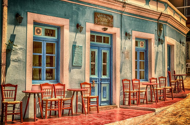 Cafe in Greece that honeymooners love