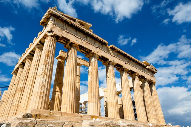 Romantic view of The Parthenon