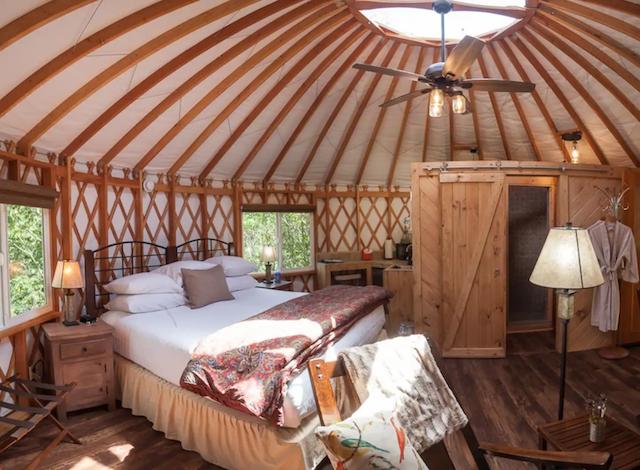 Hocking Hills Romantic Honeymoon Yurt