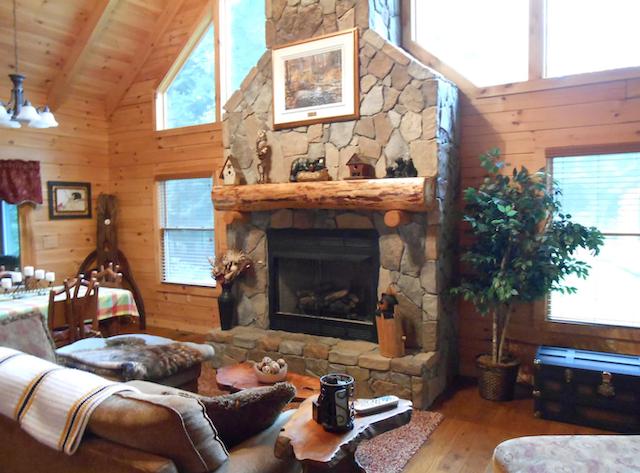 Pennsylvania cabin fireplace